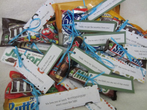 ... do with all that left over Halloween candy? Here is a sweet gift idea