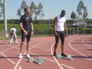Jeremy Wariner and Tyson Gay Image
