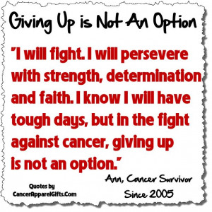 Will Fight and Persevere Against Cancer Survivor Quote ...