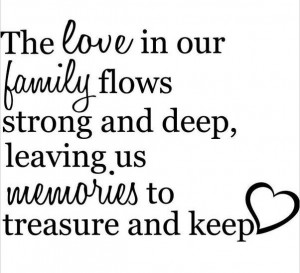Original Love family Memories wall decal quote sticker Inspiration ...