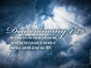 Bible Verse: Deuteronomy 4:29 Wallpaper - Christian Wallpapers and ...