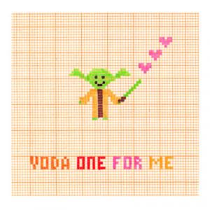 Yoda One For Me - Star Wars - Love Romance Card