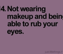 eyes, funny, makeup, purple, quote, true