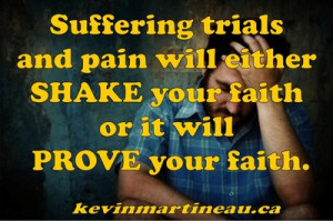 What advice would you give on how to keep your faith in hard times?