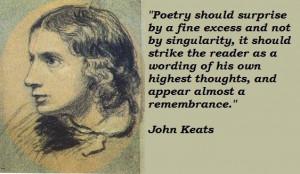 John keats famous quotes 3