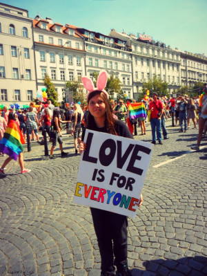 ... gay, love, photo, photography, prague pride, pride, quote, quotes