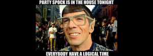 Spock Partying Star Trek Style