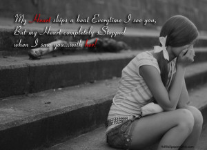 Love Quotes - My heart skips a beat everytime I see you, but my heart ...
