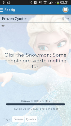 Frozen Quotes 1.3 screenshot 1