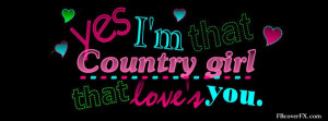 Country Girl Sayings 23 Facebook Cover