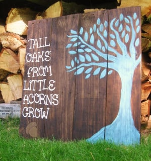 Wood sign sayings nursery wall decor, Rustic nursery decor Woodland ...