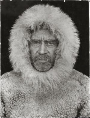 portrait of Robert E. Peary, an American explorer who claimed he was ...