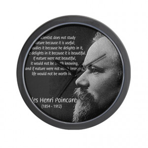 Gifts > Living Room > Jules Henri Poincare Science Wall Clock