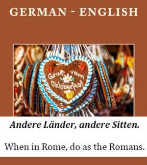 German - English Proverbs and Sayings