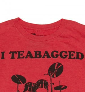 ... Official Men's Red I Teabagged Your Drum Set Step Brothers T-Shirt