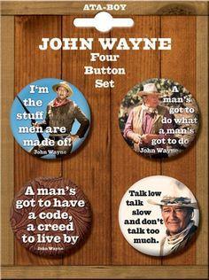john wayne quotes 4 piece button set i neeeeeeed this more john wayne ...