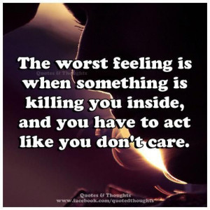 Worst feeling..