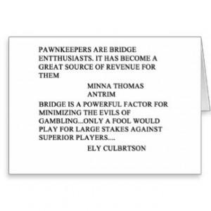 Funny Bridge Saying Gifts