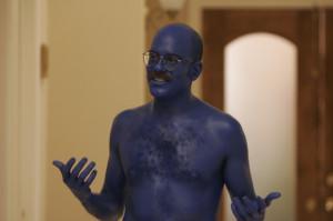 ... blue myself!
