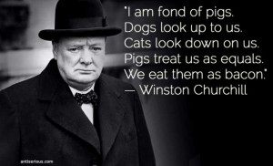 Winston Churchill has left behind a number of sexy inspiring quotes ...