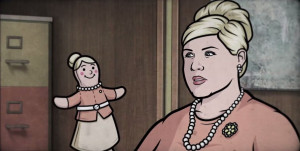 Pam Poovey in a clip from