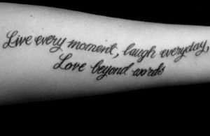 Category: Live Laugh Love Tattoos , Word Tattoos