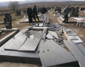 "... qualms about destroying graves."" (Serbian Orthodox Bishop Teodosije"