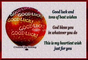 Send your good luck and best wishes to your loved ones with this cute ...