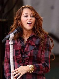 Corny' romantic Miley Cyrus