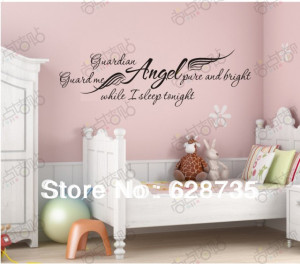 -Guardian-Angel-while-I-sleep-Removable-art-vinyl-wall-decals-quotes ...