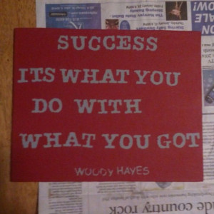 Woody Hayes Quote canvas: Quotes Canvas