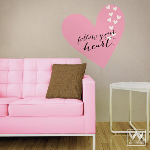Follow your Heart' Fabric Wall Quote | Wallternatives