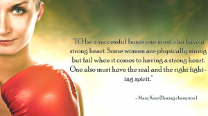 Boxing success quotes on wallpaper