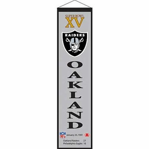 Oakland Raiders Super Bowl XV Banner - Click to enlarge