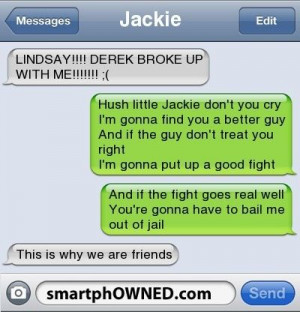 Humor | Break Up Lullaby. I feel this is me and my bff... :)