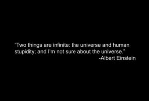 ... the universe and human stupidity; and I'm not sure about the universe