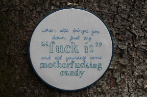 David Sedaris Quote Embroidery Hoop Art by lonelymtnembroidery, $60.00