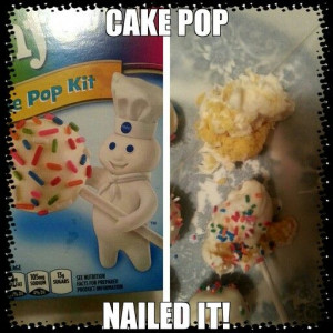 Cake pop fail. :*(
