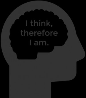think, therefore I am quote inside brain