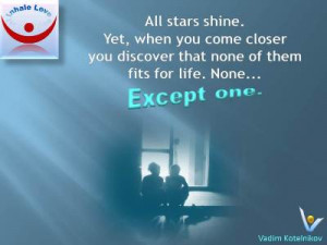 Great Marriage quotes: All stars shine, but when you come closer you ...