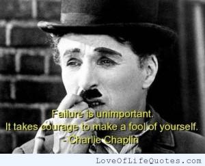 Charlie Chaplin quote on failure