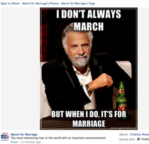 From NOM's Hate March Page