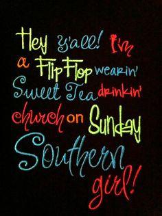 sweet tea, southern food, southern girls, tee shirts, southern recipes ...