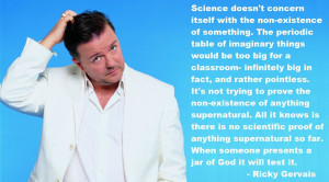 perception of God, science cannot affirm God's existence. Gervais ...