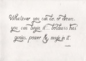 Goethe Quote Art Print