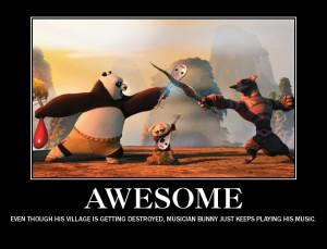 Kung Fu Panda Demotivational Musician Bunny by EmmyKirk14