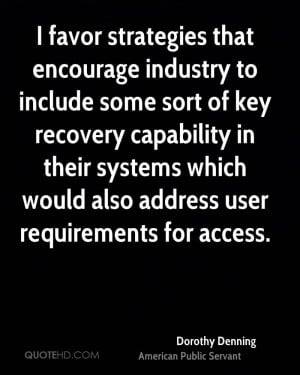 that encourage industry to include some sort of key recovery ...