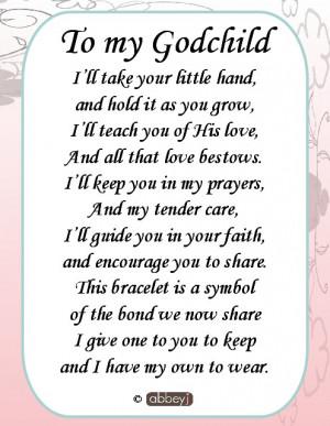 poem from godmother to godchild