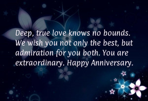 Deep, true love knows no bounds. We wish you not only the best, but ...