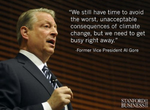 environmental challenge, stated Former Vice President Al Gore ...